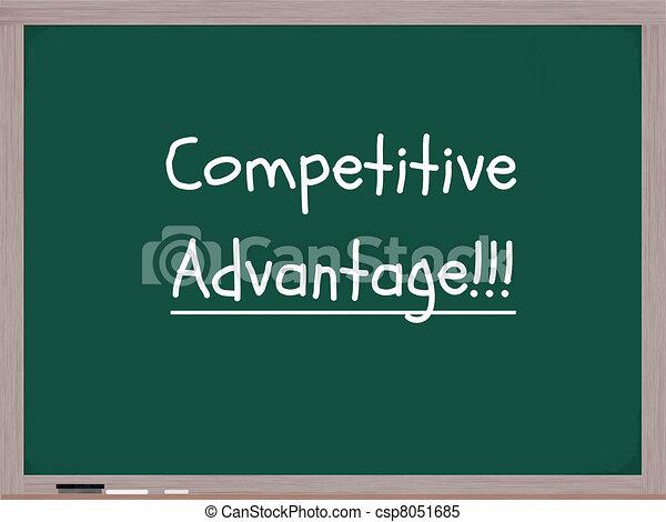 Competitive Advantage Chalkboard - csp8051685