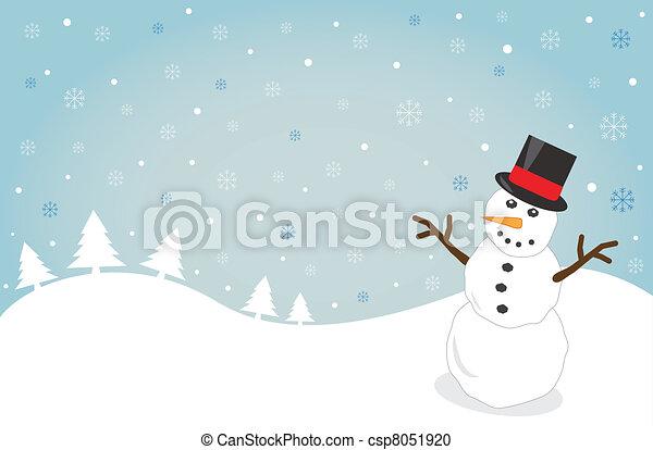 Snowy Christmas - csp8051920
