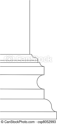 baroque column base scheme - csp8052993
