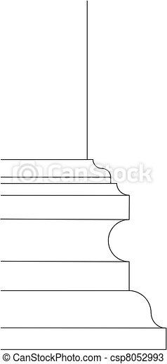 baroque column base scheme - csp8052993