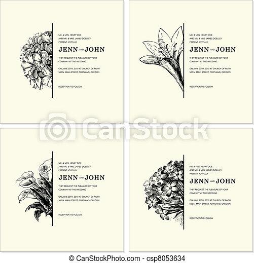 Vector Ornate Floral Half Frames Set - csp8053634