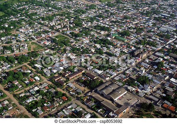 Aerial view of residential area  - csp8053692