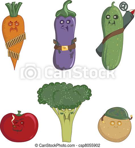 Carrots, eggplant, cucumber, tomato - csp8055902