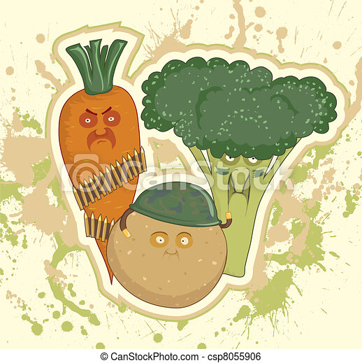 Potatoes, carrots, broccoli - csp8055906