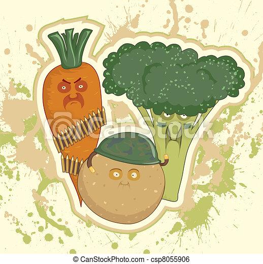 Potatoes, carrots, broccoli,  - csp8055906
