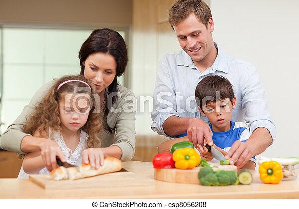 Family slicing ingredients - csp8056208