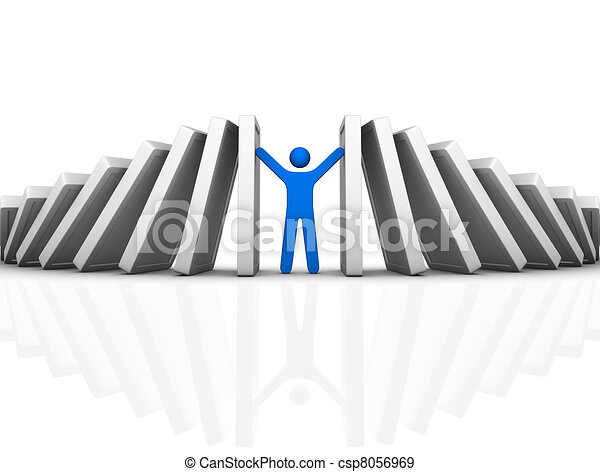 domino effect and problem solving - csp8056969