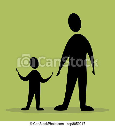 father and son - csp8059217