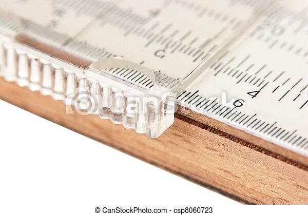 Vernier scale logarithmic ruler - csp8060723