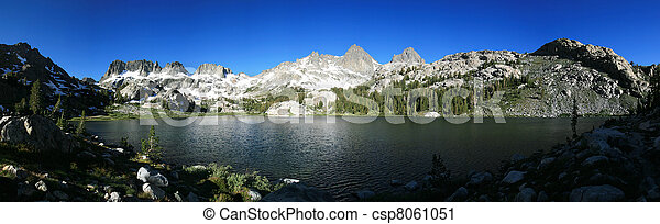Mountain Lake Panorama - csp8061051