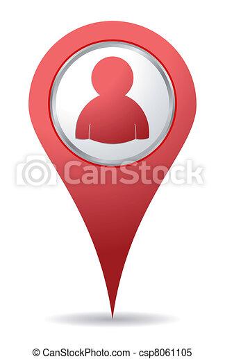 location people icon - csp8061105