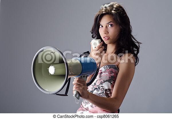 Attractive female - csp8061265