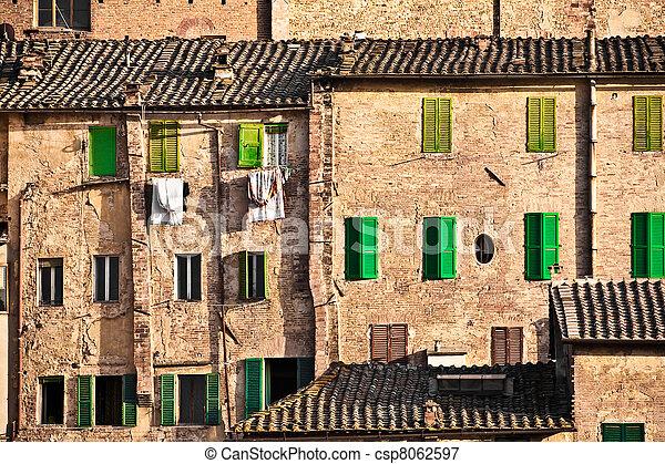 歴史的, 建築, siena - csp8062597