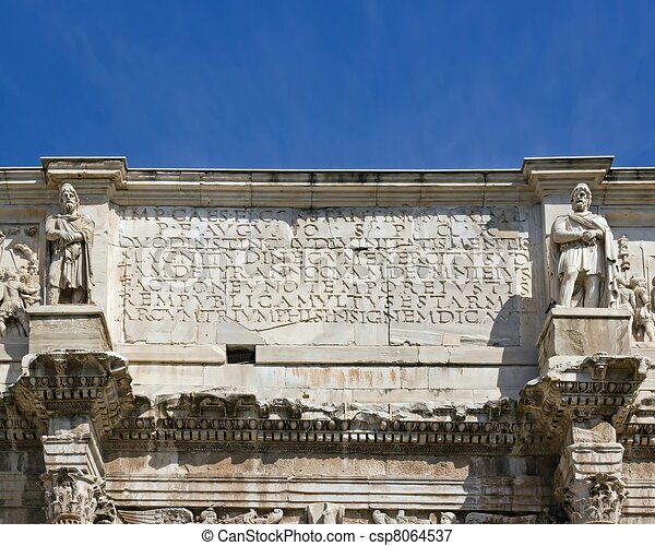 Arch of Constantine Rome Italy - csp8064537