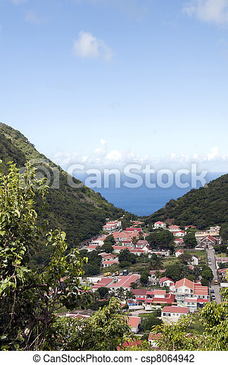 Saba Dutch Netherlands  Antilles - csp8064942