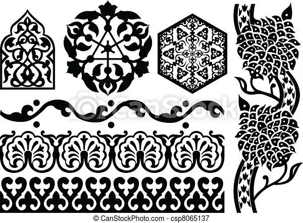 Islamic ornaments - csp8065137
