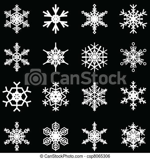 snowflakes set - csp8065306