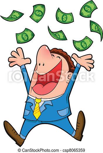 rain of money - csp8065359