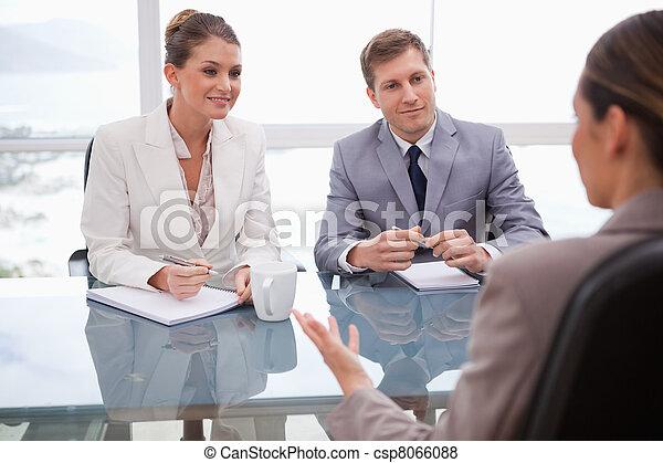 négociation,  Business, gens - csp8066088