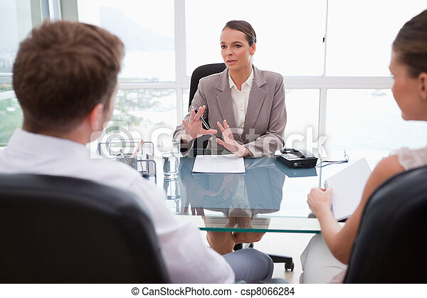 Lawyer explaining legal situation - csp8066284