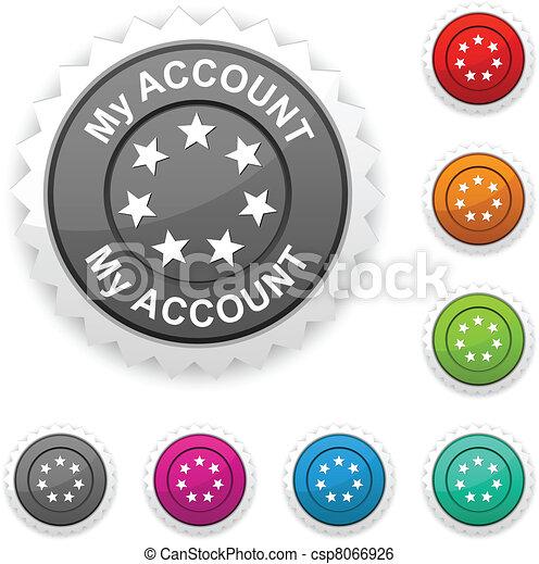 My account award button.  - csp8066926