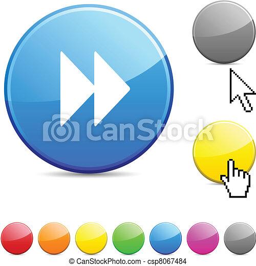 Forward glossy button. - csp8067484