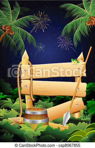 Jungle Party Banner - csp8067855