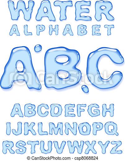 Water alphabet. - csp8068824