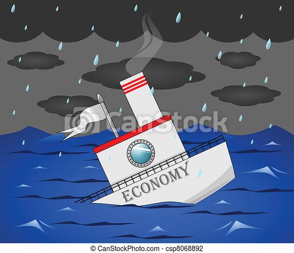 Sinking Economy - csp8068892