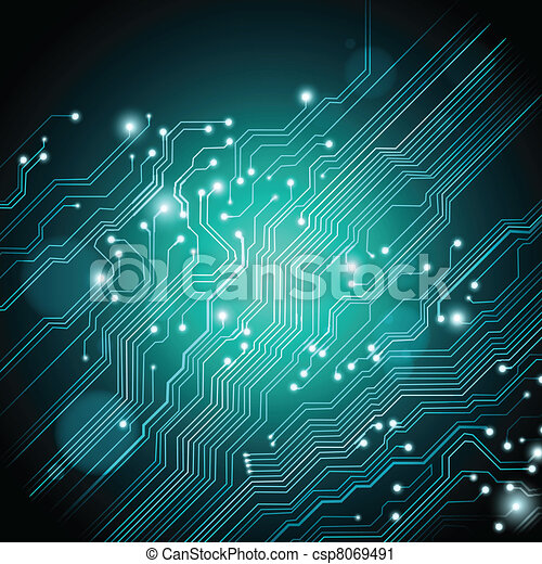technology vector background with circuit board texture - csp8069491