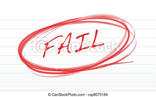 fail written on a notepad paper - csp8070184