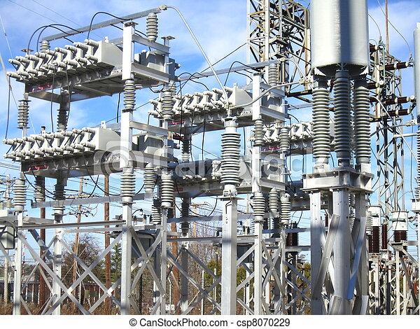 Capacitor Bank at Power Substation - csp8070229