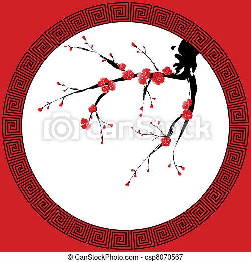 Chinese New Year greeting card - csp8070567