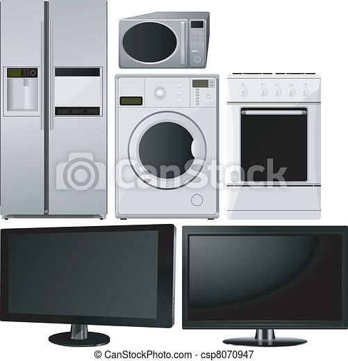 Set of of household appliances - csp8070947