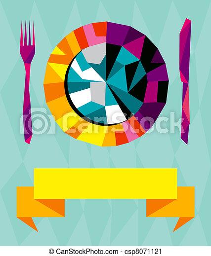 Origami gourmet composition. - csp8071121