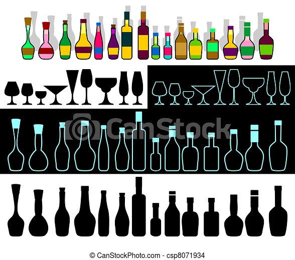 Alcohol assortment. - csp8071934