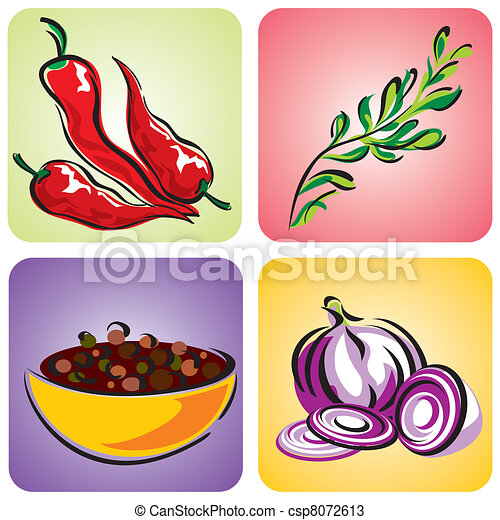 spices set - csp8072613