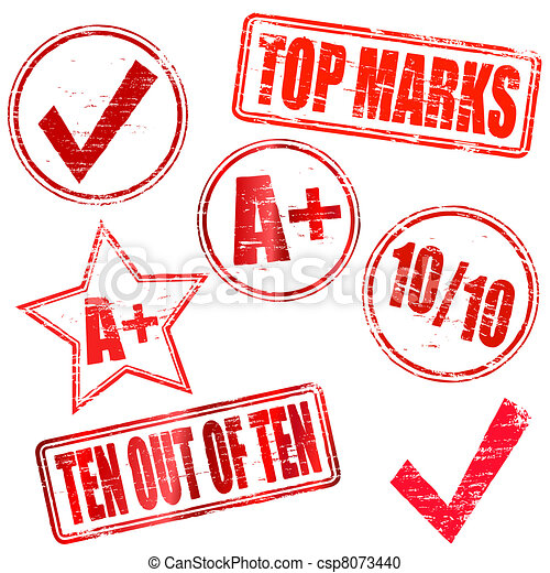 Ten out of Ten Rubber stamps - csp8073440