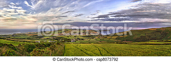 HDR Panorama - South - Isle of Man - csp8073792