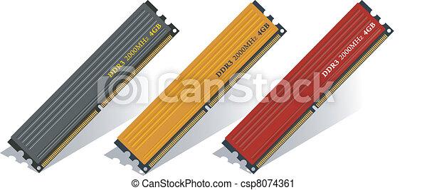 Set of DDR3 memory modules  - csp8074361