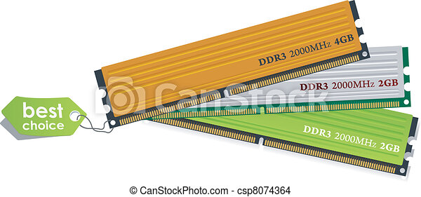 Set of DDR3 memory modules - csp8074364