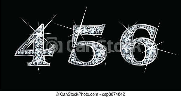 Diamond Bling 4, 5, 6 - csp8074842