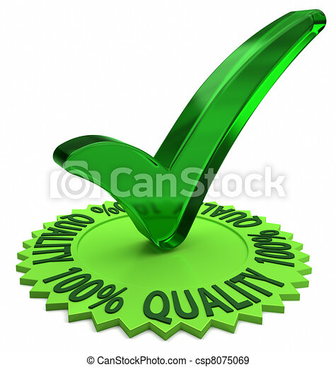 One Hundred Percent Quality - csp8075069