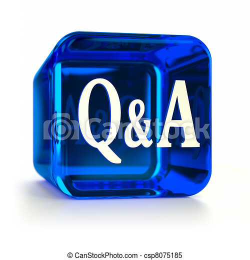 Blue Questions and Answers Icon - csp8075185