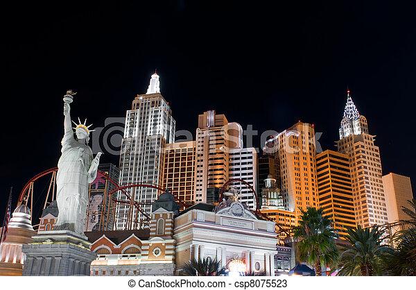 Night scenes from Las Vegas - csp8075523