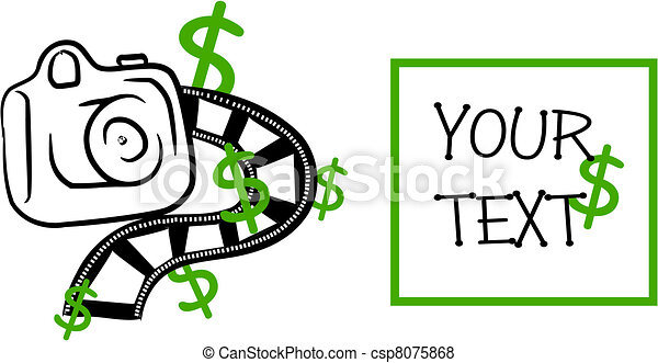 Take money on your picture - vector - csp8075868