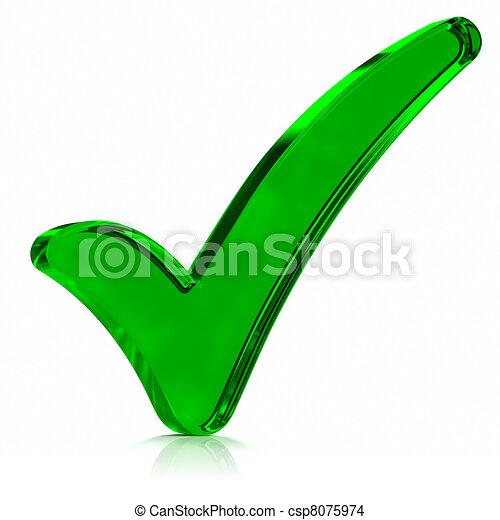 Green Check Mark Symbol - csp8075974