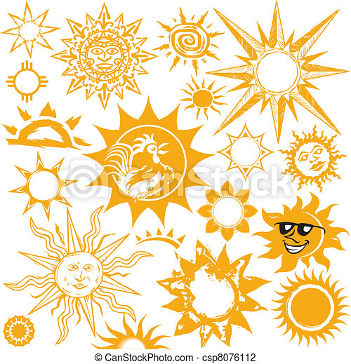 Sun Line Drawing Sun Collection Csp8076112