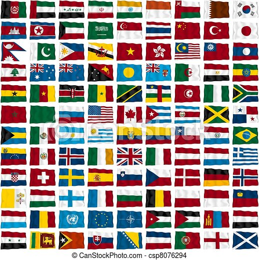 Flags of the world's countries - csp8076294