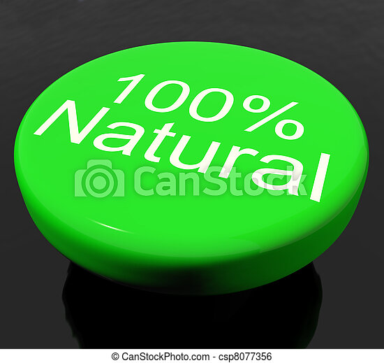 Button 100% Natural Organic Or Environmental - csp8077356